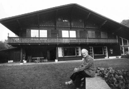 Yehudi Menuhin in his Chalet in Gstaad