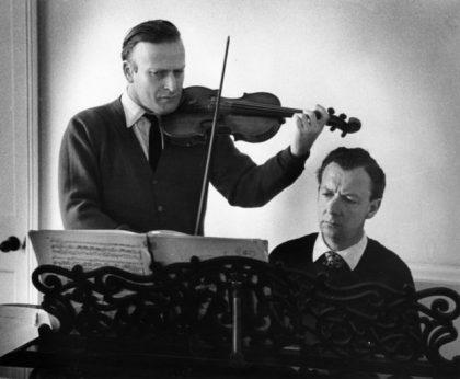 Rehearsing with Benjamin Britten