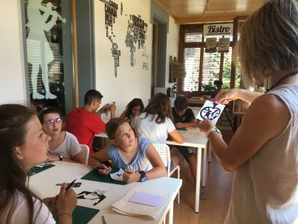 Découpage workshop during the Summer Camp