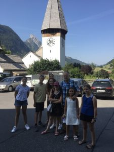 In front of the Saanen Church