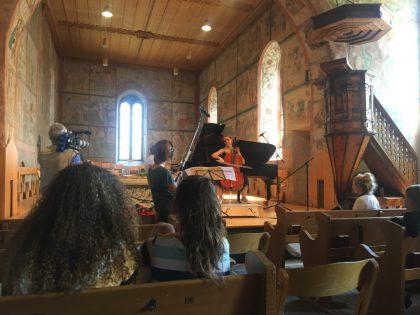 Listening to Sol Gabetta's rehearsal