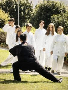 Taichi Session in the garden